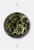 Perle en résine 10x7 mm bronze x2