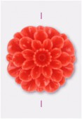 Fleur en résine 23 mm corail x1