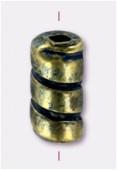 Tube 9x4 mm bronze denim patina x6