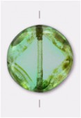 Palet rond cut 16 mm peridot x1
