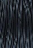 Cordon en caoutchouc noir 2 mm x 1 m