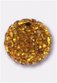 Boule strass Pave Ball 10 mm topaz / topaz x1