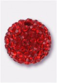 Boule strass Pave Ball 10 mm siam / siam x1