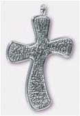 Pendentif croix pour Crystal Clay™ 45x29 mm x1