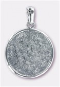 Pendentif rond pour Crystal Clay™ 45 mm x1