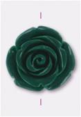 Rose en résine 23 mm vert x1