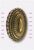 Intercalaire cabochon ovale en résine 30x40 mm bronze x1