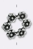Argent 925 intercalaire 6 fleurs 18 mm x1