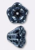 Cloche fleur 6x8 mm hematite x6
