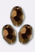 Olive à facettes 8x6 mm dark bronze x12