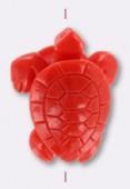 Tortue en résine 32x24 mm corail x1