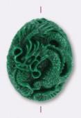 Dragon en résine 41x35 mm vert x1