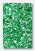 Twin beads 2.5x5 mm crystal light green lined x20g