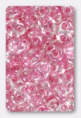 Twin beads 2.5x5 mm crystal pale pink lined x20g