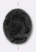 Dragon en résine 41x35 mm noir x1