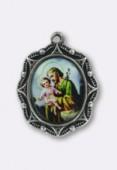 Médaille St Josephe argent 19x16 mm x1