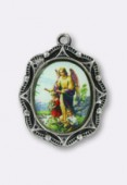 Médaille ange gardien argent 19x16 mm x1