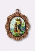 Médaille ange gardien cuivre 19x16 mm x1