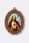 Médaille Jésus cuivre 28x23 mm x1