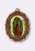 Médaille Notre Dame de Guadeloupe cuivre 28x23 mm x1