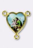 Médaille cœur St Josephe or 15x14 mm x1