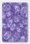 Twin beads 2.5x5 mm crystal pale lilac pearl x20g