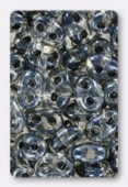 Twin beads 2.5x5 mm grey lined x20g