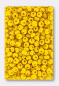 Rocaille 4 mm yellow opaque x20g