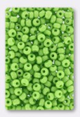 Rocaille 4 mm lime green opaque x20g