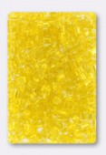 Rocaille cube 2.6 mm sol-gel yellow x 20g