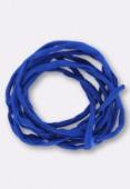 Tubulaire de soie Habotai blue 3mm x1m