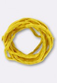 Tubulaire de soie Habotai yellow 3mm x1m