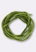 Tubulaire de soie Habotai jade green 3mm x1m