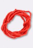 Tubulaire de soie Habotai coral 3mm x1m