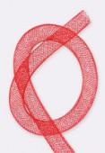 Résille tubulaire 8 mm rouge x1 m