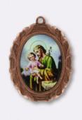 Médaille St Josephe cuivre 28x23 mm x1