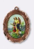 Médaille ange gardien cuivre 28x23 mm x1