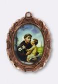 Médaille St Antoine cuivre 28x23 mm x1