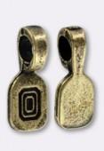 Bélière à coller bronze 15x6 mm x2