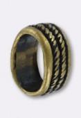 Passant en métal pour cuir 10x6 mm corde bronze x1