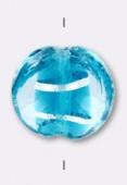 Feuille d'argent palet bombé 16 mm crystal blue zircon x2