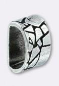 Passant en métal pour cuir 6x3 mm serpent argent x1