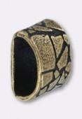 Passant en métal pour cuir 6x3 mm serpent bronze x1
