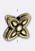 Perle en métal intercalaire 6.5 mm bronze x6