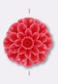 Fleur en résine 23 mm rose x1