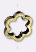 Intercalaire en métal fleur 17 mm bronze x1
