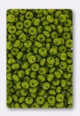 Flying saucer 4 mm green opaque x100