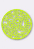 Estampe ronde fleur 47 mm Bright Neon lime x1