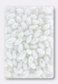 Rice droplet 3x6.5 mm chalk white x20g