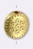 Perle en métal palet 9 mm or x2